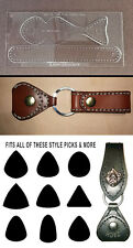 GUITAR PICK CASE II TEMPLATE SET  CUSTOM CRAFT SHOW ITEM FOR LEATHERWORKERS -NEW