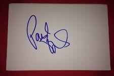 PAUL O'GRADY SIGNED 6X4 WHITE CARD TV AUTOGRAPH PRESENTER & DJ 100% GENUINE