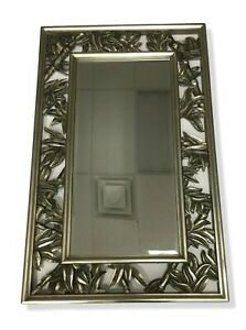 Large Faux Bamboo Framed Mirror 27 X 43 NEW Bevelled Edge