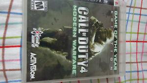 COD Call of Duty 4: Modern Warfare MW MW1 (Playstation 3 PS3) Complete w/ Manual