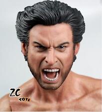 Custom 1/6 Scale Hugh Jackman Wolverine Head Sculpt For Hot Toys Body
