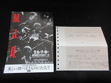 MJQ 1985 Japan Tour Flyer w Ticket John Lewis Milt Jackson Modern Jazz Quartet