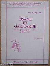 partition PAVANE ET GAILLARDE - Lily Bienvenu - saxophone piano