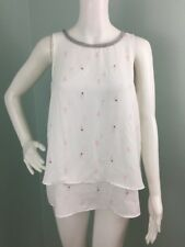 fac5d17ff14b9 Womens Juicy Couture White Cactus Print Embellished Blouse Top Sz S Small