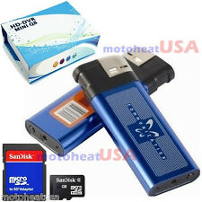 16GB Q8 Mini DV Metal Lighter Hidden Spy Cam Camera Nanny DVR USB Video Recorder