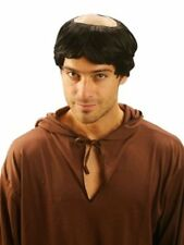 ADULT MENS MONK RELIGIOUS PRIEST SHORT HAIR BALD WIG FANCY DRESS COSTUME U37 524