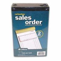 5x  Sales/Invoice Order Book Carbonless 2 part 75 sets ea. Adams Numbered Pages