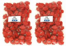 100 PACK 22-18 GAUGE RED QUICK SPLICE WIRE CABLE CONNECTOR TERMINAL 100% COPPER
