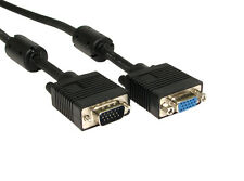 Fully Wired 1m SVGA Cable Male to Female VGA extension Monitor Lead