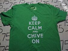 Medium- Kcco Keep Calm And Chive On Authentic Green T- Shirt