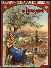 Cheminsde Fer d' Alsace Lorraine France Vintage Travel Art Advertisement Poster