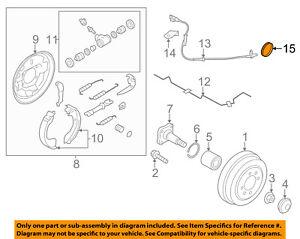 NISSAN OEM 12-18 Versa Brake-Rear-ABS Ring 479501HA0A
