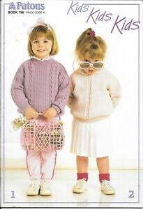 Vintage Patons Knitting Pattern Book 796 Kids Kids Kids