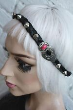 SILVER STUD SPIKE STUDDED FOREHEAD BAND GRUNGE INDIE FESTIVAL HEADBAND CROWN