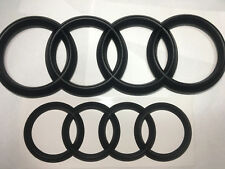Set of Front and Rear Matte Black Badge Combo For Audi Q3 Q5 Q7  ~ 2018