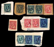 1903-08 CANADA #89-91 - KING EDWARD VII PIECES - USED - FINE+ - $12.25 (E#1972)
