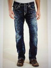TRUE RELIGION RICKY SUPER-T MEN JEAN DRY BRUSH M859NTW9 NWT 33W $369 MADE IN USA