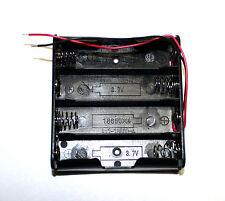 4S 4fach Liion 18650 Akkuhalter, Batteriehalter mit Polfeder & Anschlussdrähten