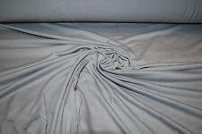 Micro Bamboo Spandex Jersey Knit  Ecofriendly High End Fabric Medium Gray 9 oz