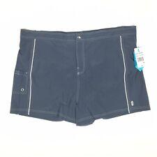 4c91c22c269 Country Size 3x Cloud Grey White Elastic Waistband Women Swim Shorts