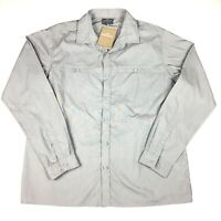 Kathmandu Mens Luremo Grey Long Sleeve Shirt Size XL NEW With Tags