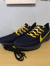 Nike Air Zoom Pegasus 36 Michigan Wolverines Navy Gold CI2072-400 Sz 9.5 Mens