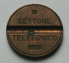 7707 UT Italy GETTONE TELEFONICO Italian pay telephone token - July 1977