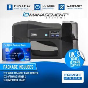 Fargo DTC4500e Dual-Sided ID Card Printer • Ships Worldwide • 5000+ Sold