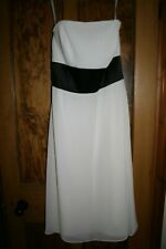 IVORY PROM DRESS,WEDDING DRESS, BRIDESMAIDS DRESS SIZE 12,  DESSY DRESS 6506