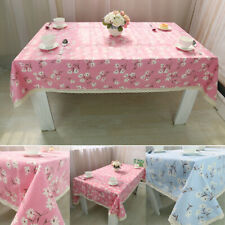 Floral Pattern Tablecloth Lace Edge Kitchen Dining Home Table Cloth Covers Decor