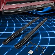 "Black Oval Bent 4"" Side Step Nerf Bar Rail for 2015-2016 Ford F150 Super/Ext Cab"