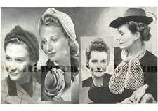 Vintage Knitting/Crochet Pattern 1940s Ladies Turbans & Crochet Turban/Scarf.