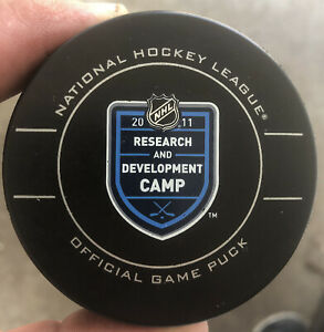Official NHL Game Puck Research And Development Camp 2011 Hockey Puck Very Rare