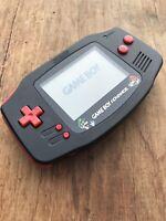Nintendo Gameboy Advance GBA AGB-001 Black Handheld Gaming Console - Mario Bros