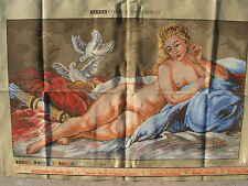 Painted needlepoint canvas W 89 Boucher VENUS Tapex Vienna Made in Austria Vintg