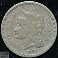 1867 Three Cent Nickel, Fine+ Condition, Buy 4 of Any Items & Get $5 Off, C5067