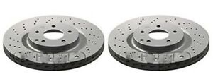 MERCEDES C-CLASS W203 CL203 FRONT BRAKE DISCS (PAIR) DRILLED (330MM)