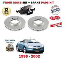 para Rover MG F Mgf 1.6 1.8 1995-2002 Juego Nuevo freno disco delantero + kit