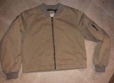 Ladies M Abercrombie & Fitch Beige Bomber Jacket Coat Petite A&F