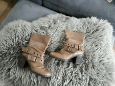 Office Tan leather ankle boots size 3 slouch style
