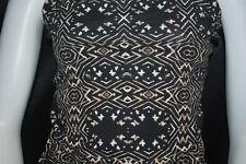 Cotton Jersey Lycra Tribal Print  Knit Fabric Very Soft 8 oz