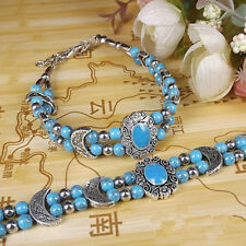 Ladies Jewelry Bangle Tibet Silver Bracelet Turquoise Bracelet Jewelry