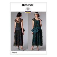 Butterick cartamodello Misses'STORICO ANNI 20 vestito taglia 6-22 B6399