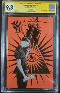 Department of Truth #1 Cover X Oasas CGC SS 9.8 Jae Lee Signed and REMARKED