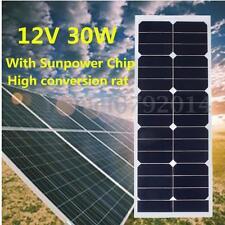 SOLAR PANEALS 30W 12V PANNELLO Fotovoltaico Monocristallino CAMPER BARCHE Baita