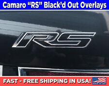 Camaro Rs Emblem Overlays, Vinyl Camaro Rs Black-out Decals, Camaro Rs Stickers