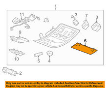 GM OEM Overhead Roof Console-Light Lens 15911049