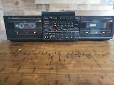 Pioneer dual cassette deck Ct-1380 Wr With Remote Tested