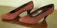Peter Kaiser Brown Suede Pumps Women's Size 9 Medium Made in Germany