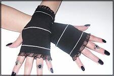 Ringel Stulpen Punk Punkig Gothic Lolita Vintage 80er Glam Glamrock geringelt